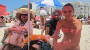 1/1/13 on the beach - Copacabana of course